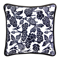 """Luru Home - 20"""" x 20"""" Fish Bowl Pillow - Luru Home - LuRu Home works with Artisans along China's eastern seaboard to produce indigo hand - dyed textiles. Chinese have practiced Nankeen indigo hand - dying, a sibling of Japanese Shibori, for over 3,000 years. The process remains largely preserved despite the idustrialization of the textile market."""