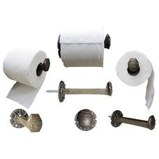 Eclectic Toilet Accessories by Railroadware