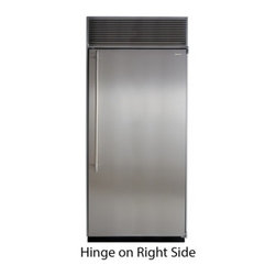 "Marvel - M36ARSGPR 36"" All Refrigerator  with Full Extension Glide-Out Clear Crisper Draw - These beautiful columns have the largest interior capacity on the market and are loaded with features Stainless Steel framed glass refrigerator shelves allow you to see whats beneath without bending over Full extension glide out clear crisper drawers..."