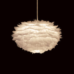 Eos Feather Lamp - These feather pendants are amazing. I would keep them up all year long.