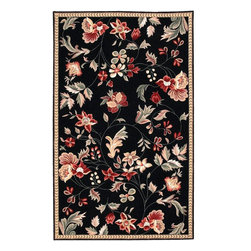 Surya - Surya FLO8907-810 Flor Transitional Hand Hooked Wool Rug - Great floral designs in warm colors make Flor a collection for people who like to add some casual flair to their decor. Hand hooked in China from 100% wool, this collection is a beautiful addition to any home decor.