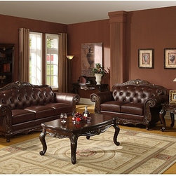 Williams Imports - Leather Sofa and Loveseat - 993110 - Set includes: Sofa and Loveseat