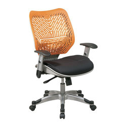 Office Star - Office Star SPACE Collection: REVV Space-Flex Tang Back Managers Chair - Office Star - Office Chairs - 86M35C625R - Long hours at task are a breeze with the REVV Tang SpaceFlex Chair from Office Star. This chair offers the individual exceptional seated comfort with its ventilating and pressure-relieving SpaceFlex curved panel back and Raven mesh seat. Pneumatic seat height adjustment locking and adjustable tilt and a waterfall seat edge further the comfort-first orientation while 360 degree swivel and a 5-wheel caster base provides full freedom of movement. Self adjusting mechanism adjusts tilt tension by using your body weight as a counter-balance resulting in perfect balance as you recline.