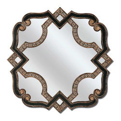 Paragon - Black/Gold Serpentine - Mirrors Decorative - Each product is custom made upon order so there might be small variations from the picture displayed. No two pieces are exactly alike.