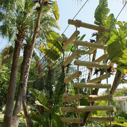 4-sided Rope Ladder - What better way is there to enter your treehouse domain than by climbing up a swinging ladder and discovering the unknown?
