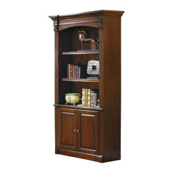 Coaster - Coaster Peterson Home Office Bookcase in Walnut Finish - Coaster Peterson Home Office Bookcase in Walnut Finish 800469