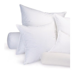 """Ogallala Comfort Company - 75 / 25 Euro Pillow - Decorative pillows add luxury and comfort to your home. Sink in, relax and enjoy your surroundings, anywhere you are. Our Hypodown blend is four parts white goose down and one part Syriaca clusters, a fiber from the milkweed plant. The two work hand in hand to give you the best of their natural abilities: warmth and comfort. Down clusters are the soft fluff under feathers that keep birds comfortable no matter what the climate. In order to measure nature's performance, down is rated by two distinct values, Percent Down Cluster and Fill Power. Features: -Available in 26"""" or 30"""" sizes. -Made in United States."""