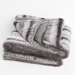 Hyde Park - Hyde Park Faux Fur Throw - Gray and Lilac Abstract with Gray Back - 74622 - Shop for Throws from Hayneedle.com! Chic and luxurious the Hyde Park Faux Fur Throw - Gray and Lilac Abstract with Gray Back is a sophisticated way to stay cozy. This throw features a down alternative fill and sumptuously soft gray faux fur. It's conveniently machine washable. About Northpoint Trading Inc.Northpoint Trading offers unique and thoughtful products for the home. Blankets bedding and more their fashion-forward products are affordably priced to make it easier for you to create a beautiful home. This company is based in New York NY.