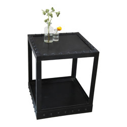 BoBo's Intriguing Objects - Rivet Side Table - Here's your recipe for elegance with an edge: Take a simple square in basic black, stud it with bold rivets and toss it into your favorite mix.