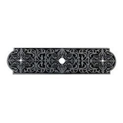 "Notting Hill - Notting Hill Renaissance  Back Plate - Brilliant Pewter - Notting Hill Decorative Hardware creates distinctive, high-end decorative cabinet hardware. Our cabinet knobs and handles are hand-cast of solid fine pewter and bronze with a variety of finishes. Notting Hill's decorative kitchen hardware features classic designs with exceptional detail and craftsmanship. Our collections offer decorative knobs, pulls, bin pulls, hinge plates, cabinet backplates, and appliance pulls. Dimensions: 4 7/8"" x 15/16"""