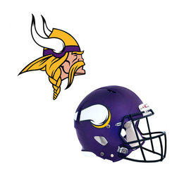 Brewster Home Fashions - NFL Minnesota Vikings Wall Graphics 6pc Teammate Sticker Set - FEATURES: