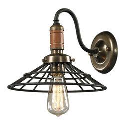 ELK Lighting - ELK Lighting 14230/1 Spun Wood Vintage Rust Wall Sconce - ELK Lighting 14230/1 Spun Wood Vintage Rust Wall Sconce