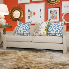 Eclectic Sofas by Tamara Mack Design
