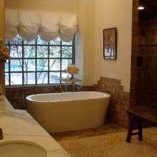 Mediterranean Bathroom by Lori Teacher & Associates