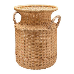 Wicker Umbrella Stand & Floor Vase