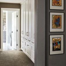Transitional Closet by Kristina Wolf Design