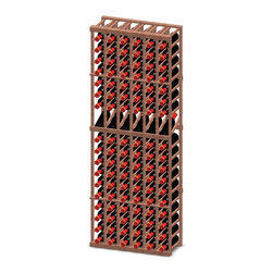 Vinotemp - 6-Column Wood Wine Rack w Display - Floor standing. Made from premium redwood. Fits 108 bottles. 26.87 in. W x 12 in. D x 73.37 in. H (98 lbs.). Made in USA. Custom made: 8 to 10 weeks lead time. Six column wine rack with one row display. Hand made. Keeps bottles safely organized. 3.75 in. racking. Attractive and functional wine storage area. Designed to fit most 750-ml bottles. Completely customizable. WarrantyThese racks are a great modular option to build your own wine room.