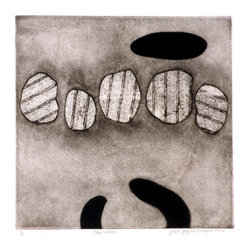Opposition - Original Etching Print - Opposition is a study in using unexpected combinations of print media- soft ground, aquatint with scraping, and mezzotint. The image reflects the posturing that often occurs with personal conflict. It's a simple yet powerful piece of original work.