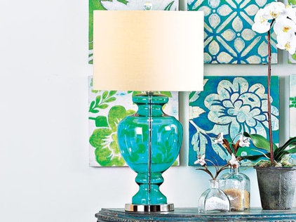 Tropical Table Lamps Ocean Blue Table Lamp