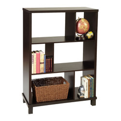 Convenience Concepts - Convenience Concepts Shelve X-31111 - The 3 Tier Bookshelf is consist of vertical surfaces with a open wide and narrow compartments that allows you to create a unique focal point in your living room or home office. You can display books, collectibles or accent pieces on the given varioius sizes of each shelves. This piece will earn praise in an already well furnished room.