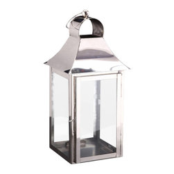 Alliyah Rugs - Square Candle Lantern Small - Square Candle Lanterns Small. These strong contemporary-style lamps will create a stunning display, especially when several different sizes are grouped together. These are made in nickel-plated stainless steel, which means they are suitable for use inside or out. The brass is lacquered to keep it shining, the base is felted to protect fine finishes.