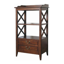 Wayborn - Eiffel Storage Rack - Features: -Eiffel storage rack.-Stained.-Solid birch and birch veneer construction.-Smooth Finish.-Collection: Eiffel.-Distressed: No.Dimensions: -Overall dimensions : 41'' H x 23'' W x 15'' D.-Overall Product Weight: 50 lbs.Assembly: -Assembly required.