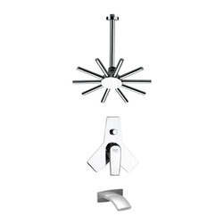 Remer - Round Modern Shower System - Contemporary shower system designed by Remer in Italy.