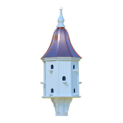 "Dovecote Copper-Vinyl Birdhouse - Entice feathered friends while adding curb appeal to your place with this stunning dovecote birdhouse! Standing 42"" tall, there's never a worry of rotting, cracking, splitting or fading... guaranteed!"