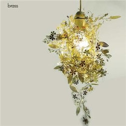 Garland Light With Pendant Kit By Tord Boontje For Artecnica - The gold garland designed by Tord Boontje is an evergreen. I have this one hanging in my bright-white painted stairway. I still love it after all these years.