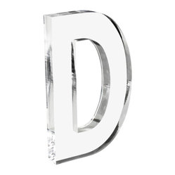 Zentique - Acrylic Letter D - It's perfectly clear that an acrylic letter is a cool and easy way to accent your decor. Shout out your initial, collect a trio for your monogram or spell out a word that has particular meaning for you.