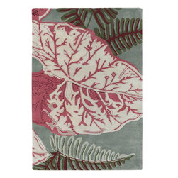 Chandra - Chandra Kronos Transitional Hand Tufted Floral Rug X-60197-3036ORK - The Kronos collection inspiration comes from Mother Nature and its surroundings by using natural colors in the designs. Kronos great color scheme and nature like makes it easy to transition this rug to any giving area by positioning it either at an office or home.