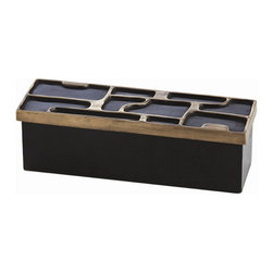 """Arteriors - Arteriors Home - Piper Brass / Wood Lidded Box - 6538 - Arteriors Home - Piper Brass / Wood Lidded Box - 6538 Features: Piper Collection Lidded BoxBrass FinishAntique Brass and Black Bronze Material Some Assembly Required. Dimensions: 10"""" W X 3"""" D X 3"""" H"""