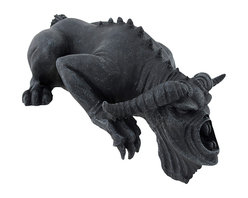 Zeckos - Black Gothic Ledge Demon Bug Shelf Sitter - Add a fantastic Gothic accent to bookcases, desks, entertainment centers, shelves and computer towers with this shelf sitting demon. Made of cold cast resin, it measures 6 1/2 inches long, 3 1/2 inches wide, and approximately 3 inches high. It adds a cool decorative accent to your home or office that is sure to be admired.