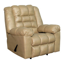Royola Pacific - Kaden Taupe Contemporary Rocker Recliner - Soft kaden taupe upholstery