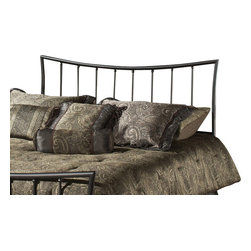 "Hillsdale Furniture - Hillsdale Edgewood Panel Headboard with Rails - King - Featuring the surprising combination of a traditionally shaped headboard with an inverted footboard, the Edgewood bed, in our magnesium pewter finish, is seamlessly crafted to fashion a truly graceful bed. Too soft to be contemporary, and too clean to be traditional, this bed fits beautifully in those ""In between"" home decors."