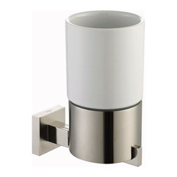 Kraus - Kraus Aura Bathroom Accessories - Wall-mounted Ceramic Tumbler Holder Brushed Ni - *Kraus  is the premier manufacturer and designer of the bath fixtures and accessories, offering top of the line products that showcase a deft blending of breakthrough technology and aesthetic ardor