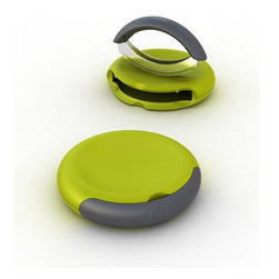 Joseph Joseph - Compact Herb Chopper - This stylish design comprises of a non-slip chopping unit and a double hachoir in one. Simply remove the cutter, chop on the gently curved cutting surface and then safely store the blade back in the compartment. Suitable for chopping all kinds of herbs, garlic, ginger, nuts and chocolate