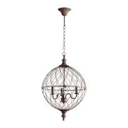 Cyan Design - Castile Three Light Pendant - Castile three light pendant - rustic