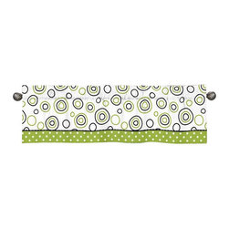 Sweet Jojo Designs - Spirodot Lime and Black Window Valance by Sweet Jojo Designs - The Spirodot Lime and Black Window Valance by Sweet Jojo Designs, along with the  bedding accessories.