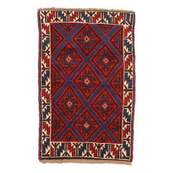 eSaleRugs - 3' x 4' 6 Balouch Persian Rug - SKU: 22153755 - Hand Knotted Balouch rug. Made of 100% Wool. Brand New.