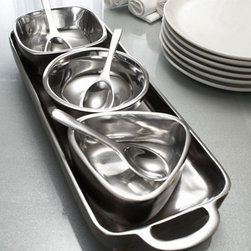 Handcrafted Condiment Set (7 pieces) - Are you stuck with a lack of inspirational ideas for presenting your lovely dips and appetizers at your next dinner party? Does your current spice tray look dull and uninteresting on your table runner? This unique spice canisters are a great touch for the modern kitchen and traditional as well.