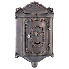Mailboxes Amco Colonial Locking Wall Mount in Bronze