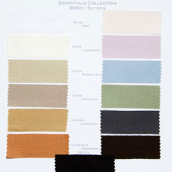 Digital Sample Book - Kearsley Couture Essentials 600 thread count Sateen colors