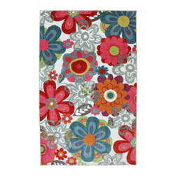 American Rug Craftsmen - American Rug Craftsmen Crib 2 College Teen Floral Rug (8' x 10') - The Crib 2 College collection offers great designs and color combinations that match most any bedding or trendy paint colors.  This collection delivers options catered to creating a unique space that can grow with your child.
