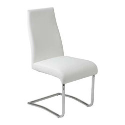 Eurostyle - Eurostyle Rooney Low Back Side Chair in White Leatherette [Set of 2] - Low Back Side Chair in White Leatherette belongs to Rooney Collection by Eurostyle Even though it's made for sitting, the Rooney chair is a standout! Incredibly comfortable leatherette over foam, this armless dining chair is perfect around the table, especially when you want room for everybody! Side Chair (2)
