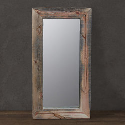 Reclaimed Wood Mirror, Floor or Wall Mount by J.W. Atlas Wood Co. - This is a beautiful reclaimed wood floor mirror. It would also work great turned 90 degrees over a double-sink vanity.