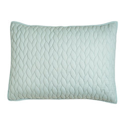 Horchow - Standard Quilted Sham - MEADOW (LT GREEN) (20x26) - Standard Quilted Sham