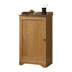 Sauder - Sauder Sundial Floor Cabinet in Highland Oak - Sauder - Bathroom Cabinets - 414033 -
