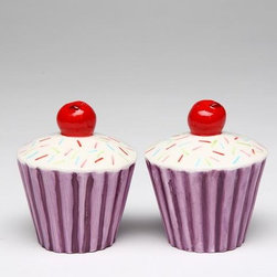 ATD - 2 5/8 Inch Purple Wrap Cupcake with Cherry Top Salt and Pepper Shaker - This gorgeous 2 5/8 Inch Purple Wrap Cupcake with Cherry Top Salt and Pepper Shaker has the finest details and highest quality you will find anywhere! 2 5/8 Inch Purple Wrap Cupcake with Cherry Top Salt and Pepper Shaker is truly remarkable.