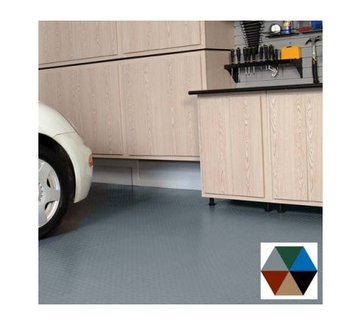 Better Life Technology G-Floor Garage Protector - The Better Life Technology G-Floor Garage Protector will make it easy to keep your garage floor clean. Made from a durable polyvinyl, the Garage Protector (.07-.08 inches) is thicker than the Parking Pad and offers both a ribbed and a coin pattern. This pad will catch dirt, snow, motor oil and brake oil and will keep puddles from forming on your floor. Cut the mat down to your ideal size with a utility knife, or easily layer the mats with provided instructions. Spray the mat with a hose for an easy way to clean your garage floor. Choose between several sizes and colors.Place your order for the durable G-Floor Garage Protector today and love the new and cleaner look of your garage.PLEASE NOTE: No returns are allowed on this item. All sales are final.About Better Life Technology Better Life Technology started with a simple idea. There's a mat at your door to keep dirt from coming in the house ... why isn't there one in the garage? The Parking Pad was developed first, an easy and inexpensive way for homeowners to control the liquids, dirts, and other detritus that comes in with an automobile. As their products have become increasingly popular and demand continues to rise, Better Life Technology has a leader in all types of PVC vinyl floor coverings for your garage.